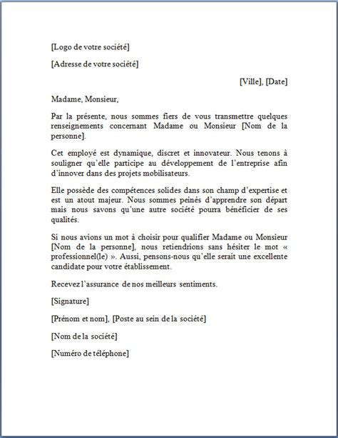 Exemple De Lettre A L Ambassade Exemple De Lettre De Recommandation Lettre De Recommandation