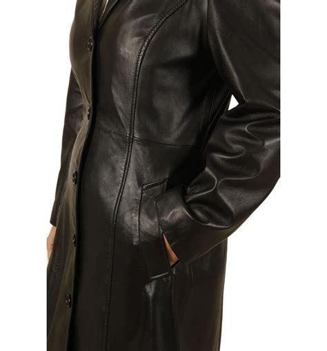 The Leather length black leather coat from simons leather