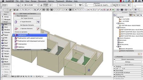 section archicad archicad tutorial multi story buildings basic