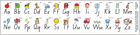 printable desk alphabet alphabet desk strip foundation 1 by learning can be fun