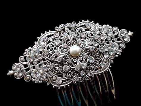 Comb Hair Clip bridal hair comb wedding headpiece vintage hair clip