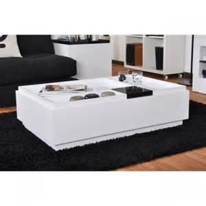 table basse laqu 233 e blanche broo design pas cher meubles lyon