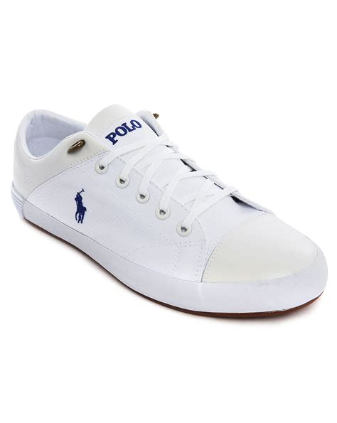 mens white canvas sneakers polo ralph jerom white canvas sneakers with leather