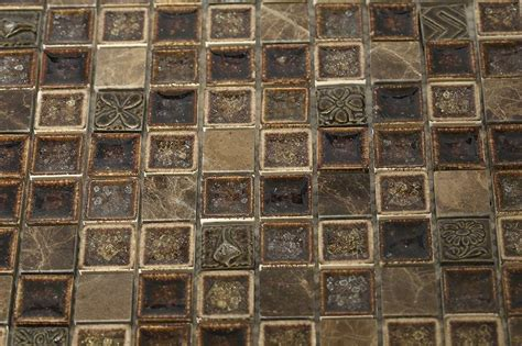 shop 12x12 collection burnt russet square mosaic in