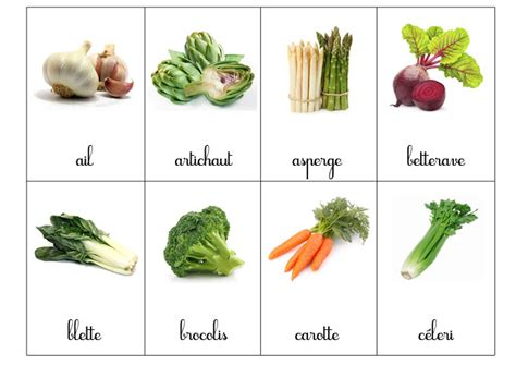 Montessori Cartes De Nomenclatures Fruits Et L 233 Gumes 192