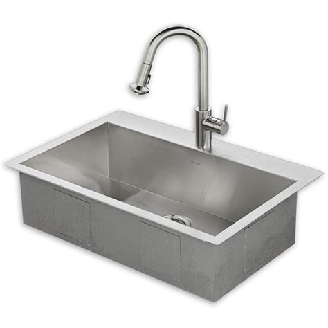33x22 Kitchen Sink Kit With Faucet Standard