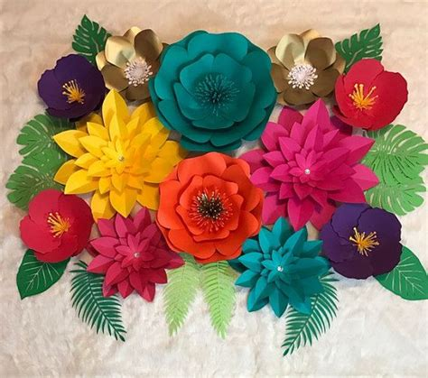 How To Make Hawaiian Paper Flowers - large paper flower backdrop tropical backdrop