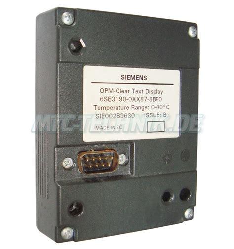 Angebot Unterbreiten Text Angebot Siemens 6se3190 0xx87 8bf0 Opm Clear Text Display 6se3190 0xx87 8bf0 Pdf Datenblatt