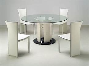 clear round glass top modern dining table w optional chairs