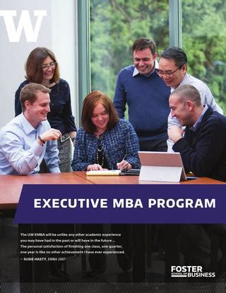 Wha Tis An Exectutive Mba by Executive Mba Uw Foster School Of Business By