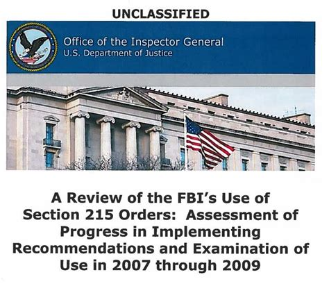 section 215 of the usa patriot act doj releases patriot act report following clinic foia