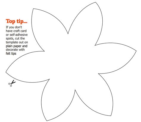 8 best images of flower templates to cut out flower cut