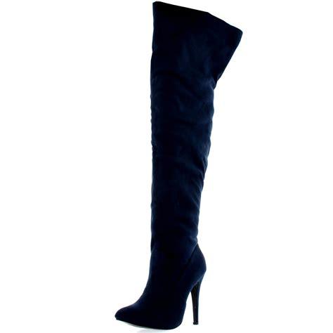 the knee high heels womens platform stretch high heels stiletto the knee