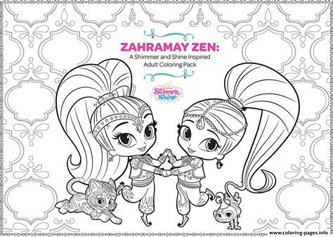 zahramay zen shimmer  shine adult coloring coloring