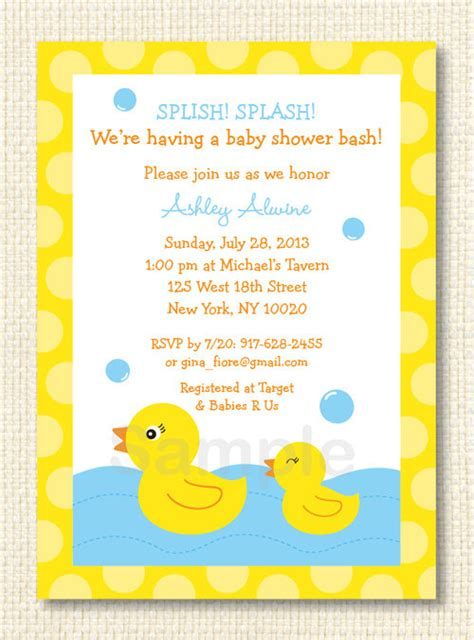 7 Best Images Of Free Printable Invitations Duck Baby Shower Free Printable Duck Baby Shower Rubber Ducky Baby Shower Invitations Template Free