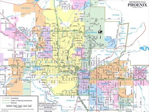 zip code map for phoenix new map of phoenix metro emaps world