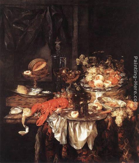 abraham van beyeren banquet still life with a mouse