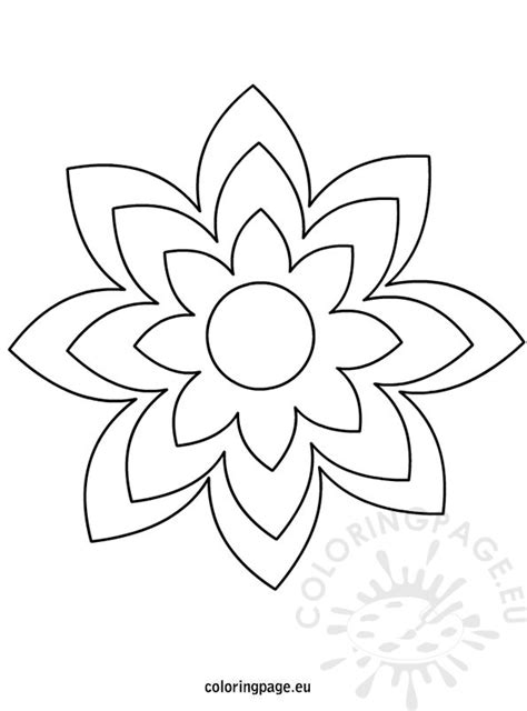 Large Flower Template flower template colouring pages page 2