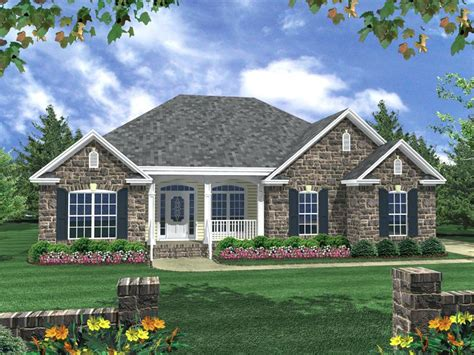 Traditional House Plans With Porches by Front Exterior One Story House Designs Modern Home