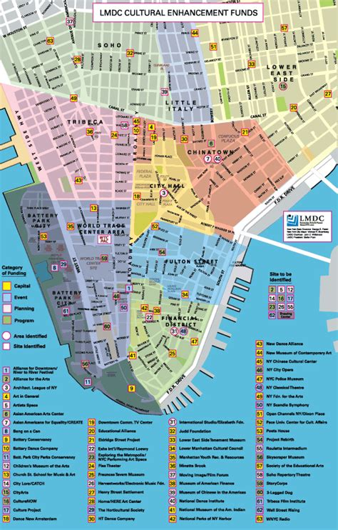 manhattan sections map manhattan neighborhood map