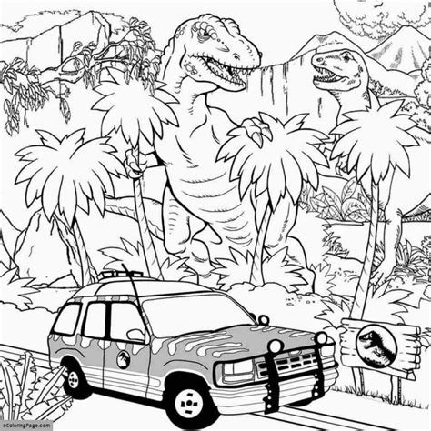jurassic world coloring pages t rex jurassic world coloring page ecoloringpage com
