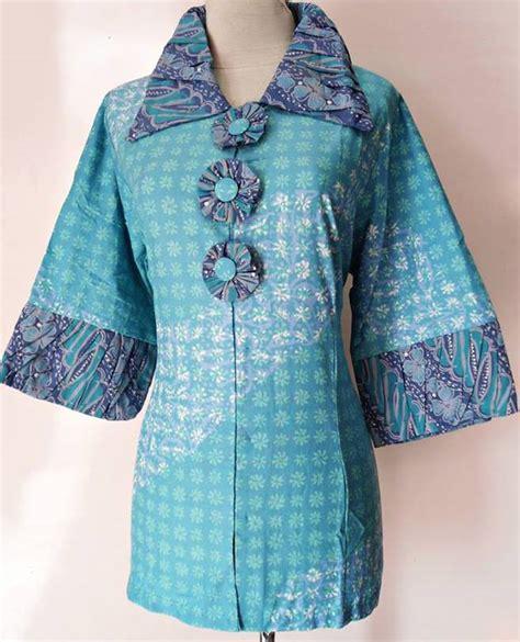 contoh desain baju batik untuk orang gemuk model baju kerja muslim untuk wanita gemuk baju kerja