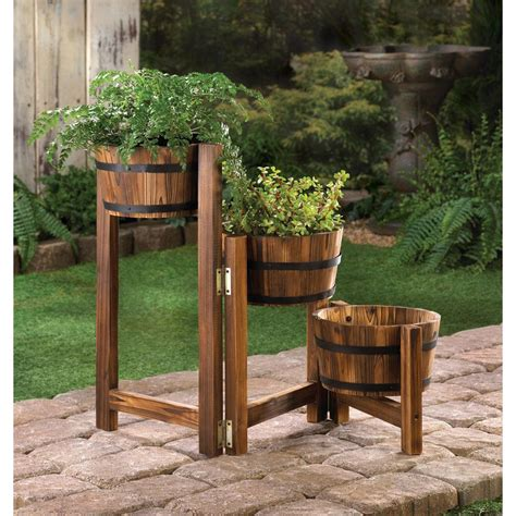 Barrel Planters Cheap by Wholesale Country Style Barrel Garden Planter