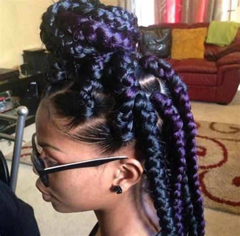box braids hairstyles down jumbo box braids protective style natural hair box