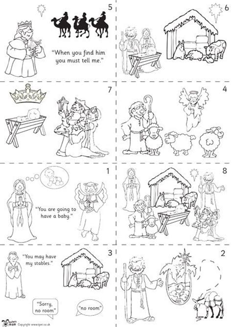printable version of the nativity story teacher s pet nativity story sequencing colour free
