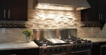 your kitchen would look great with beige natural stone backsplash for home design ideas