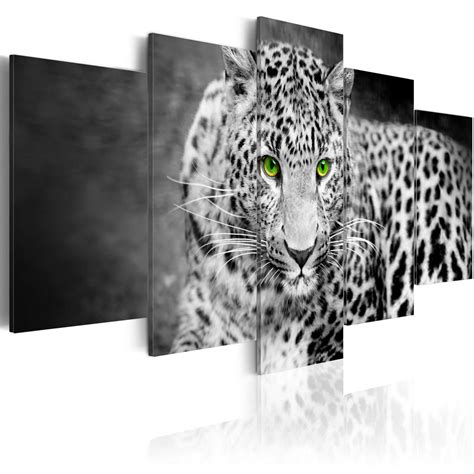 home design animal print decor unframed canvas print home decor wall art animal leopard