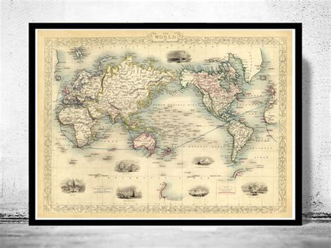 world maps collection  maps  vintage prints