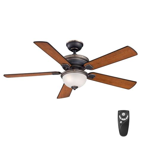 transitional style ceiling fans home decorators collection colbert 52 in indoor tarnished