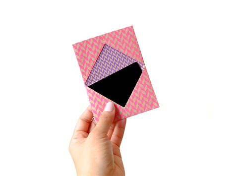 Origami Presents - origami business card holder i try diy