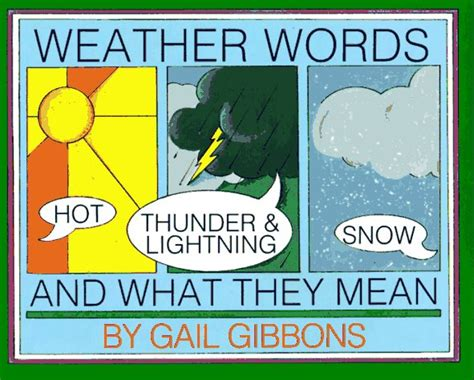 weather picture books weather books for