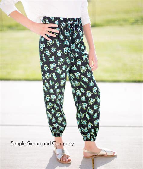 pattern joggers diy jogger pants simple simon and company
