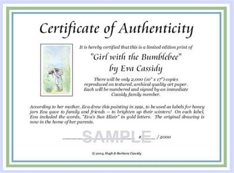 certificate of authenticity template out of darkness