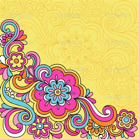 doodle flower border doodle border designs psychedelic flowers and swirls