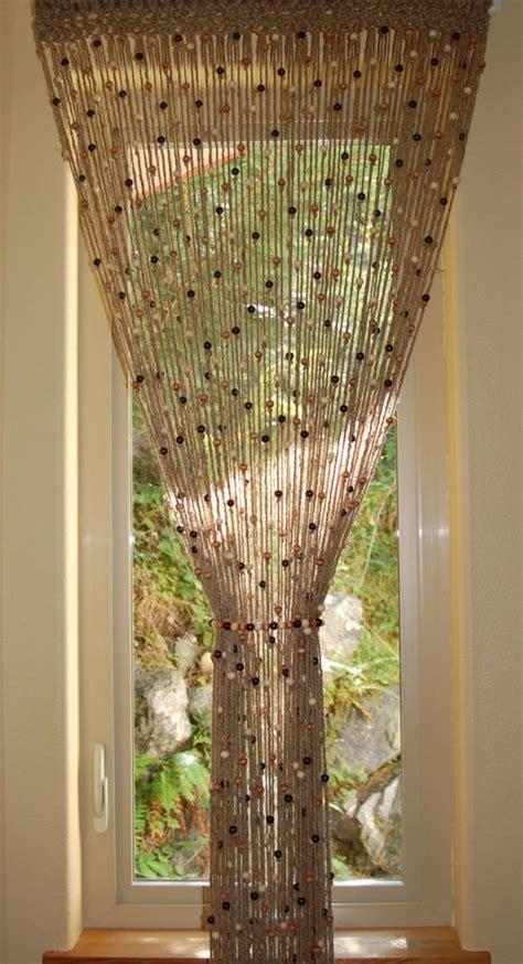 crochet door curtain pattern natural jute crochet curtain door window with wooden