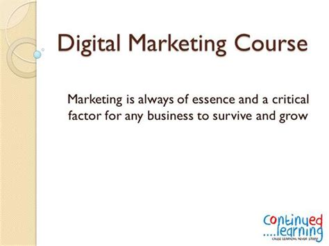 ppt digital marketing course in dwarka janakpuri digital marketing course authorstream