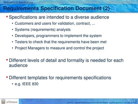 ieee 12207 document templates ppt requirements specification with the ieee 830 and