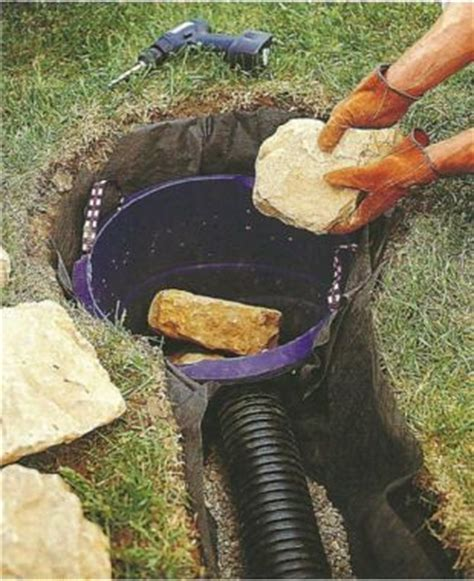 diy backyard drainage solutions dry well shrowd drainage solution how to install a dry