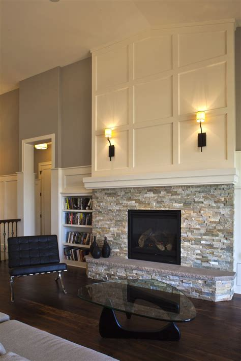 fireplace ideas tile on the bottom simple mantle