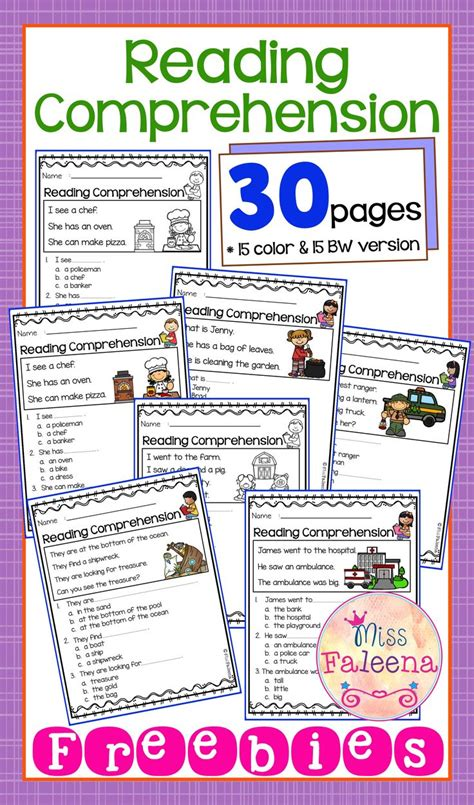 themes for reading comprehension best 25 preschool worksheets ideas on pinterest