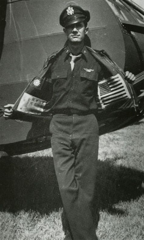 Hijacket Bomber Pilot Martin glider pilot nesbit l martin from the 1st air commando shows his blood chits sewn inside