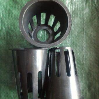 Netpot Hitam netpot hitam tinggi 7 cm diameter 5 5 cm bibitbunga