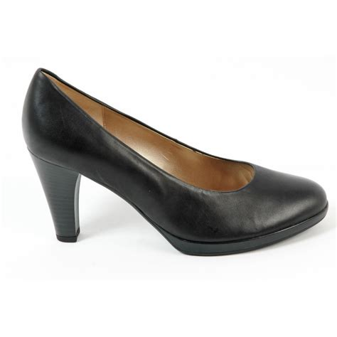 gabor shoes soria court shoe in black mozimo