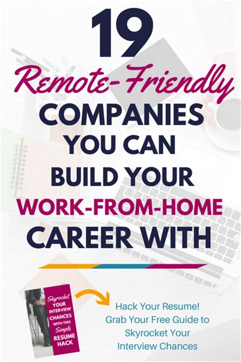 that you can work from home earn a living from home 19 remote friendly companies you