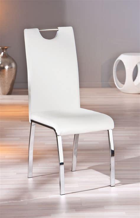 chaise de salle a manger design blanche meuble oreiller