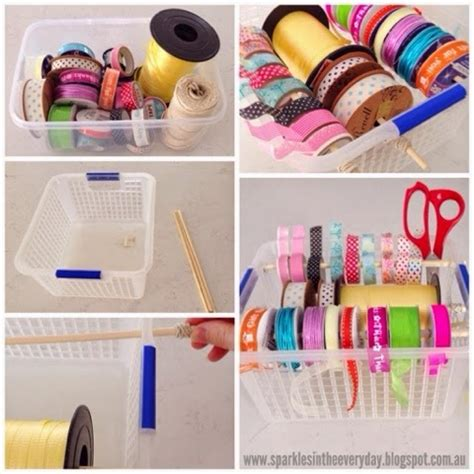 diy craft room storage hometalk diy organised storage for ribbon string and